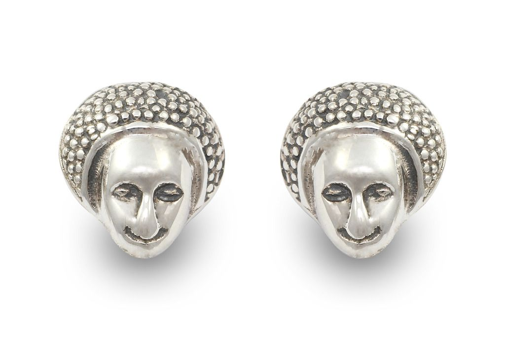 Fadkart Exxotic Contemporary 925 Silver Stud Earrings