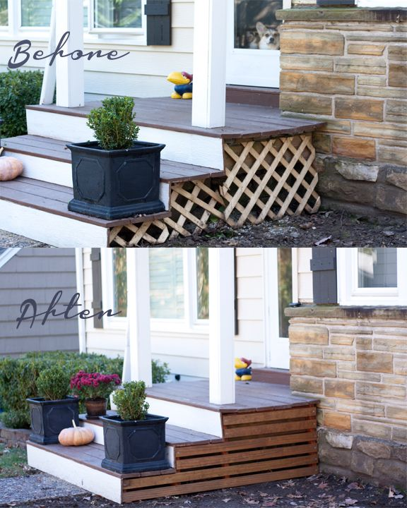 Alternative to lattice on front porch or deck houseofedds for Alternative to decking