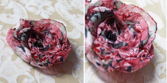 Pin On Kwiaty Z Materialu