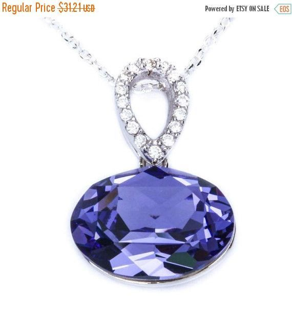 500 carat oval cut tanzanite pendant charm round clear diamond cz 500 carat oval cut tanzanite pendant charm round clear diamond cz accent designer pendant solid 925 aloadofball Images