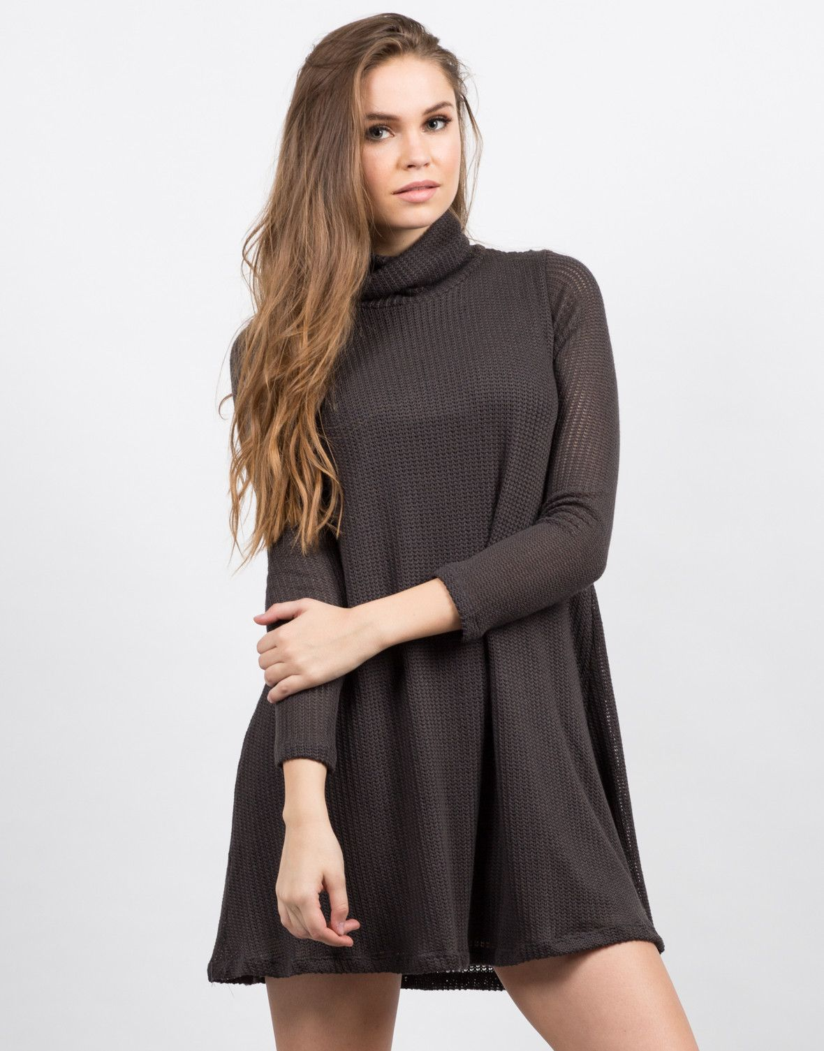 Knitted Sweater Dress Turtleneck dress Dresses dresses and