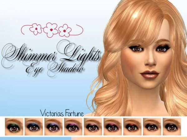 The Sims Resource: Shimmer Lights Eye Shadow Collection by fortunecookie1 • Sims 4 Downloads