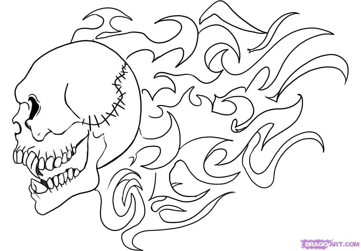 Printable Skull Coloring Pages