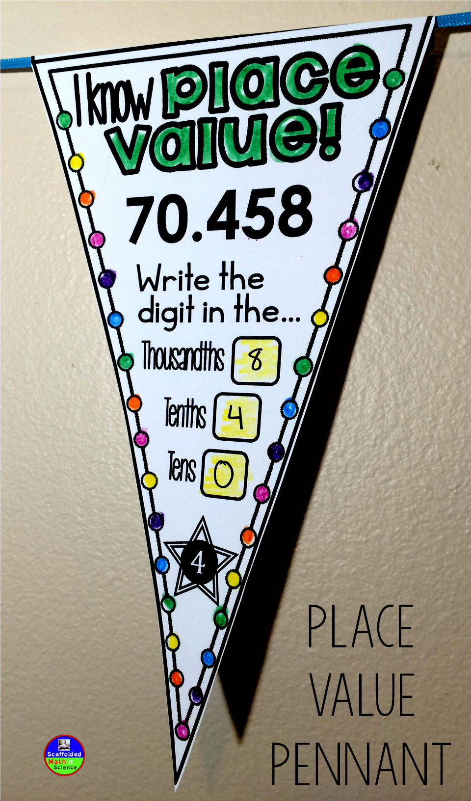 Place Value To The Thousandths Also A Link To A Place Value Pennant For Younger Math Pennant Math Interactive Notebook Differentiation Math [ 1632 x 960 Pixel ]