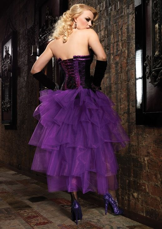 fc4758ae4f Long Tulle Bustle Skirt   Purple [LA-A1698] - $29.99 : Clubwear, Pole  Dancing Clothes, Exotic Wear and Stripper Clothes