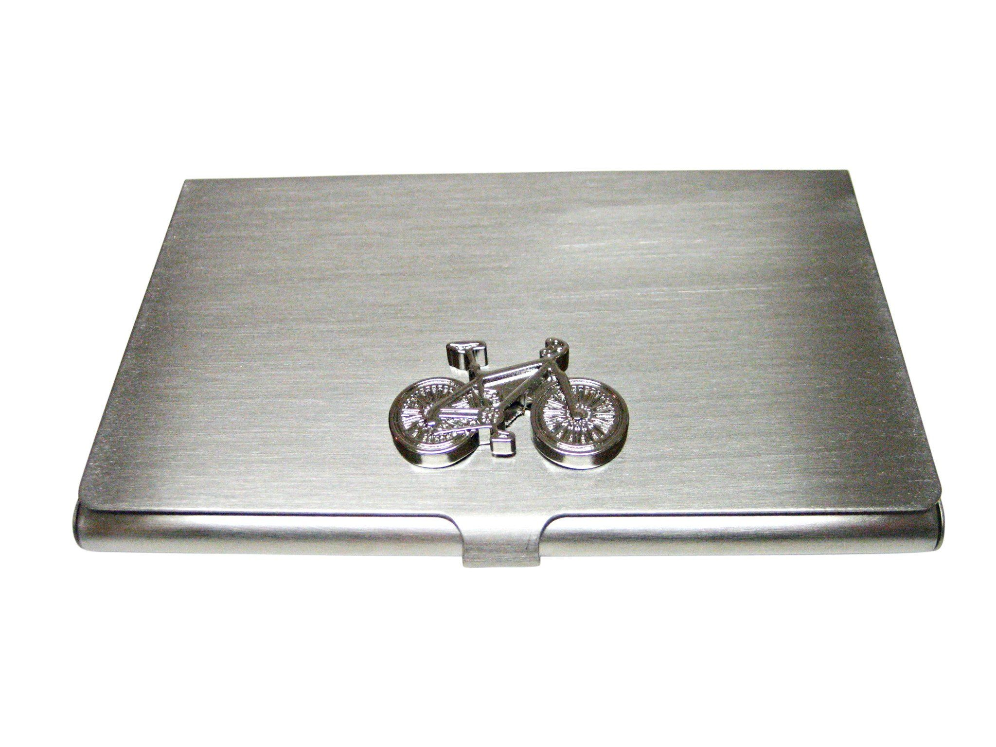 Silver Toned Detailed Bicycle Business Card Holder | Business card ...