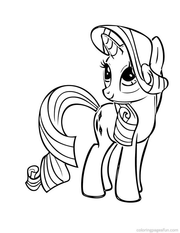 My Little Pony Coloring Pages Rarity Up Main My Little