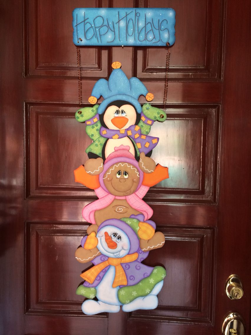 Adorno para la puerta navidad detalles foami - Decoracion navidad goma eva ...