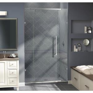 DreamLine, Vitreo 46-1/8 in. x 76 in. Frameless Pivot Shower Door in Chrome, SHDR-21467610-01 at The Home Depot - Mobile