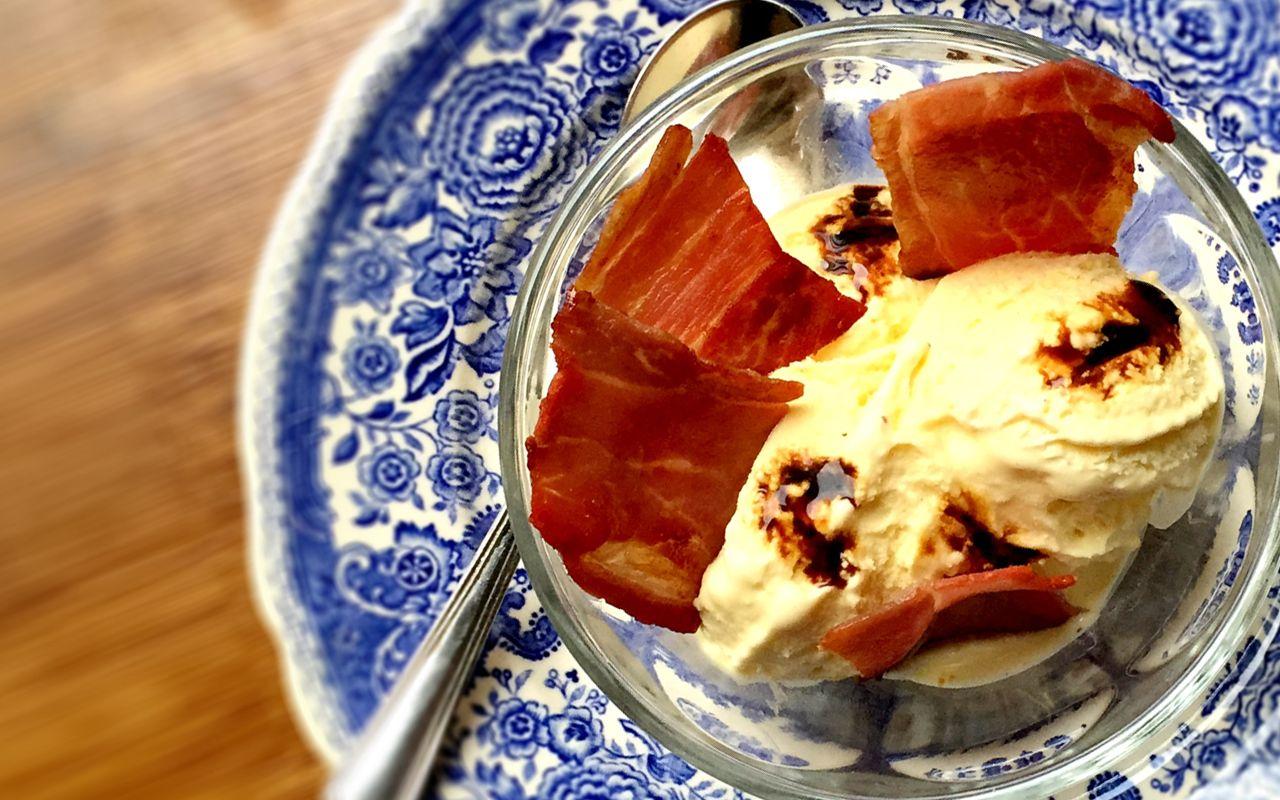Parmigiano Reggiano Gelato With Culatello Chips I Love Italian Food Italian Recipes Parmigiano Reggiano Recipes