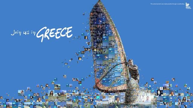 See you in Greece (Up Greek Tourism). Animated mosaics of landmarks and symbols of Greece made out by the hundreds of the supporters of the ...