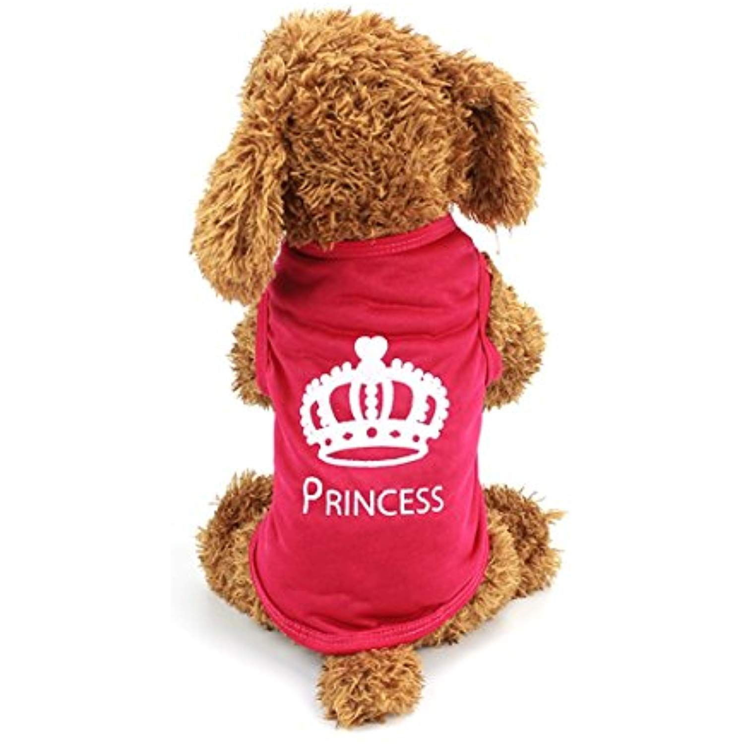 2cc4c61639dd Idepet TM Cute Pet Dog Cat Puppy T Shirts With Princess words for Yorkshire  Terrier pug Beagle Dog Vest Playsuit Clothes (L) >>> Be sure to check out  this ...
