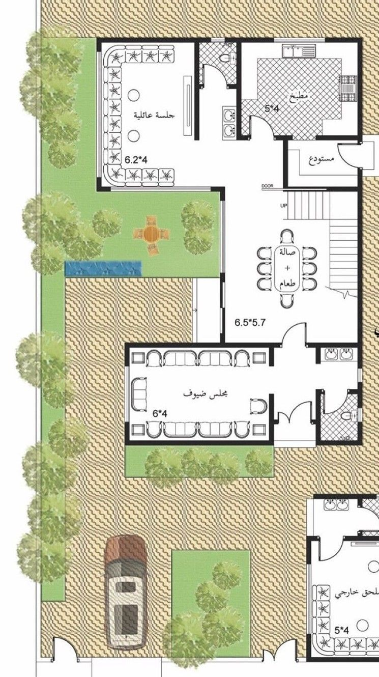 Pin By Abdulaziz Ali Alnemer On Villa Architectural House Plans My House Plans House Design