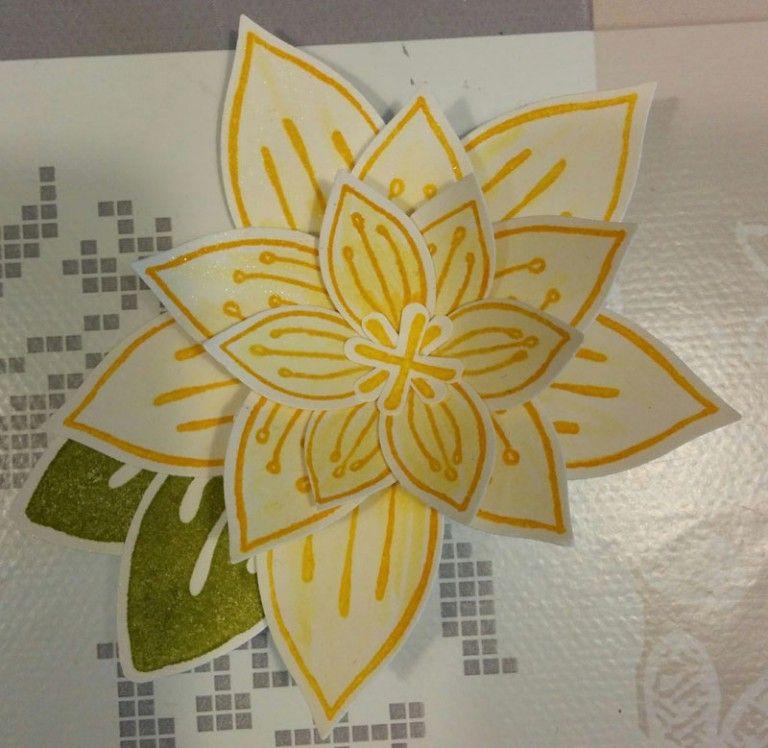 Friends & Flowers bloem - Het Knutsellab - Stampin Up #stampinup #crafts #knutselen #stempelen
