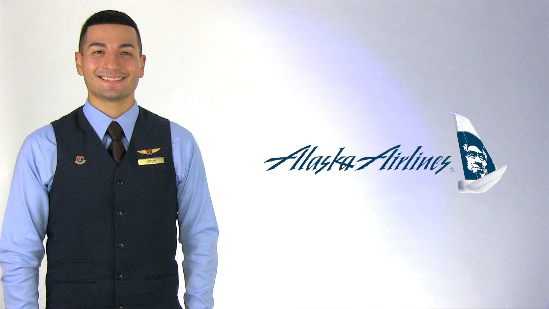 Alaska Airlines Flight Attendant Drew Alaska airlines
