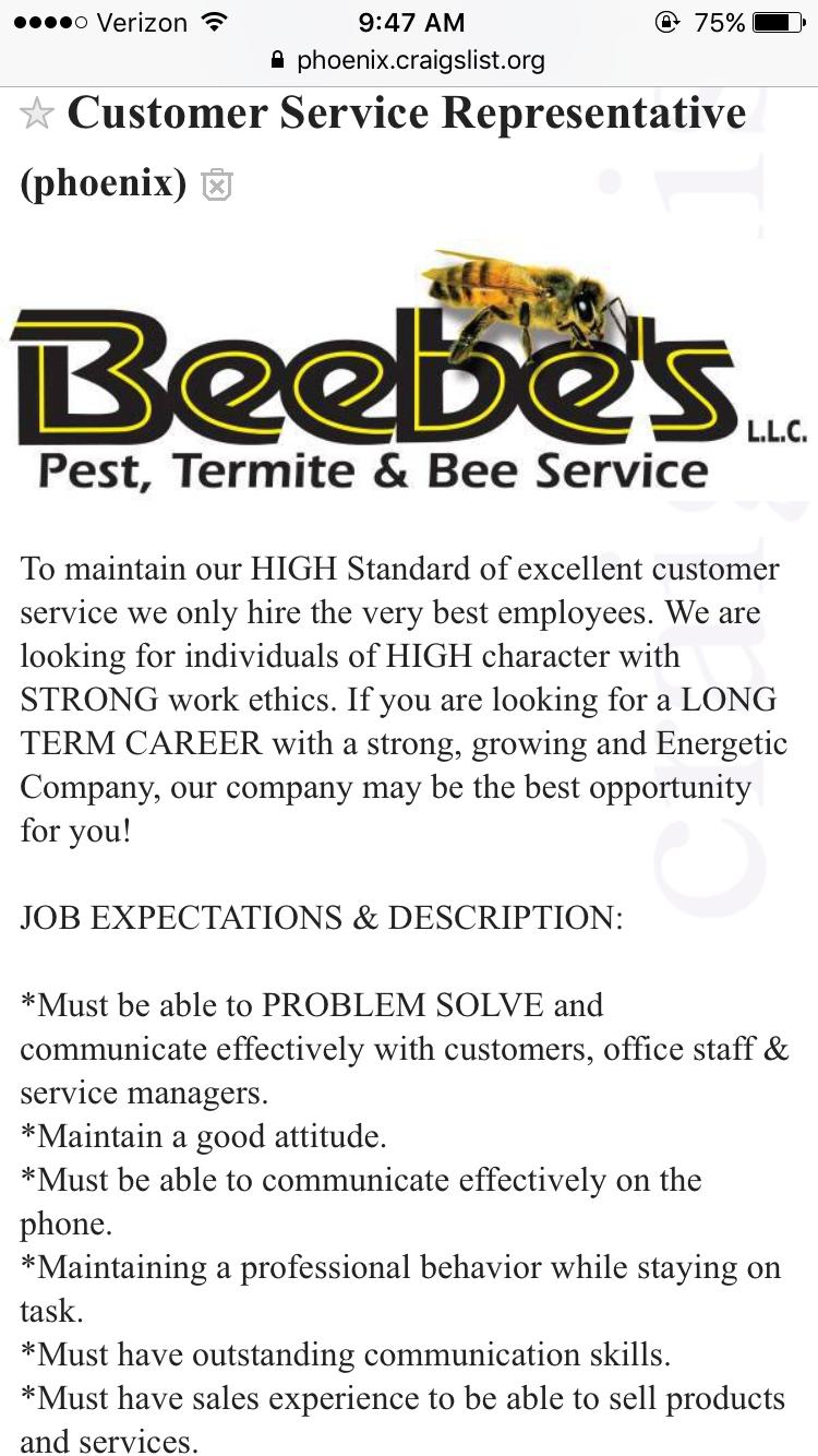 Craigslist Phoenix Jobs Customer Service - CREGLIS