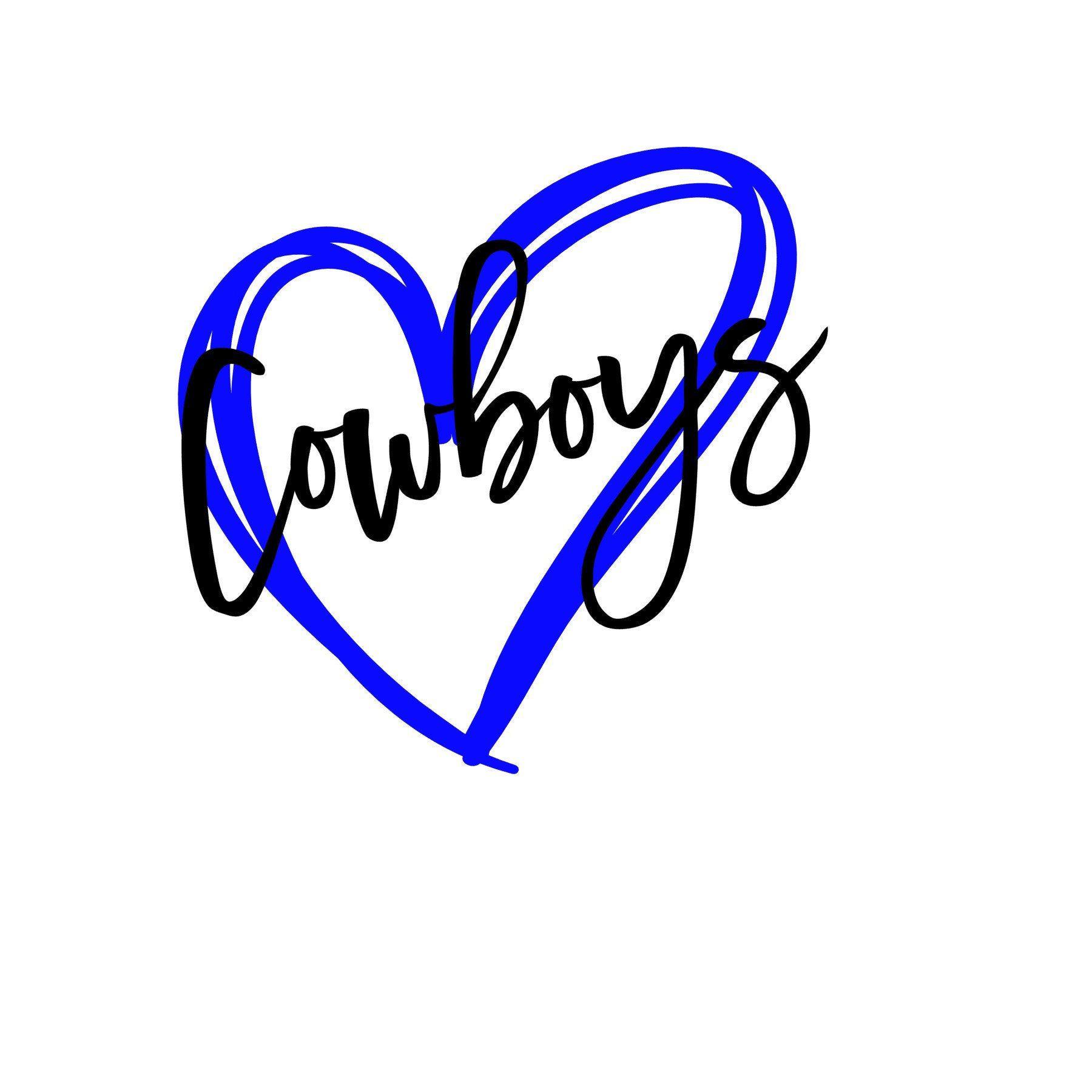 Cowboys Heart SVG Cowboys, Dallas cowboys, Etsy