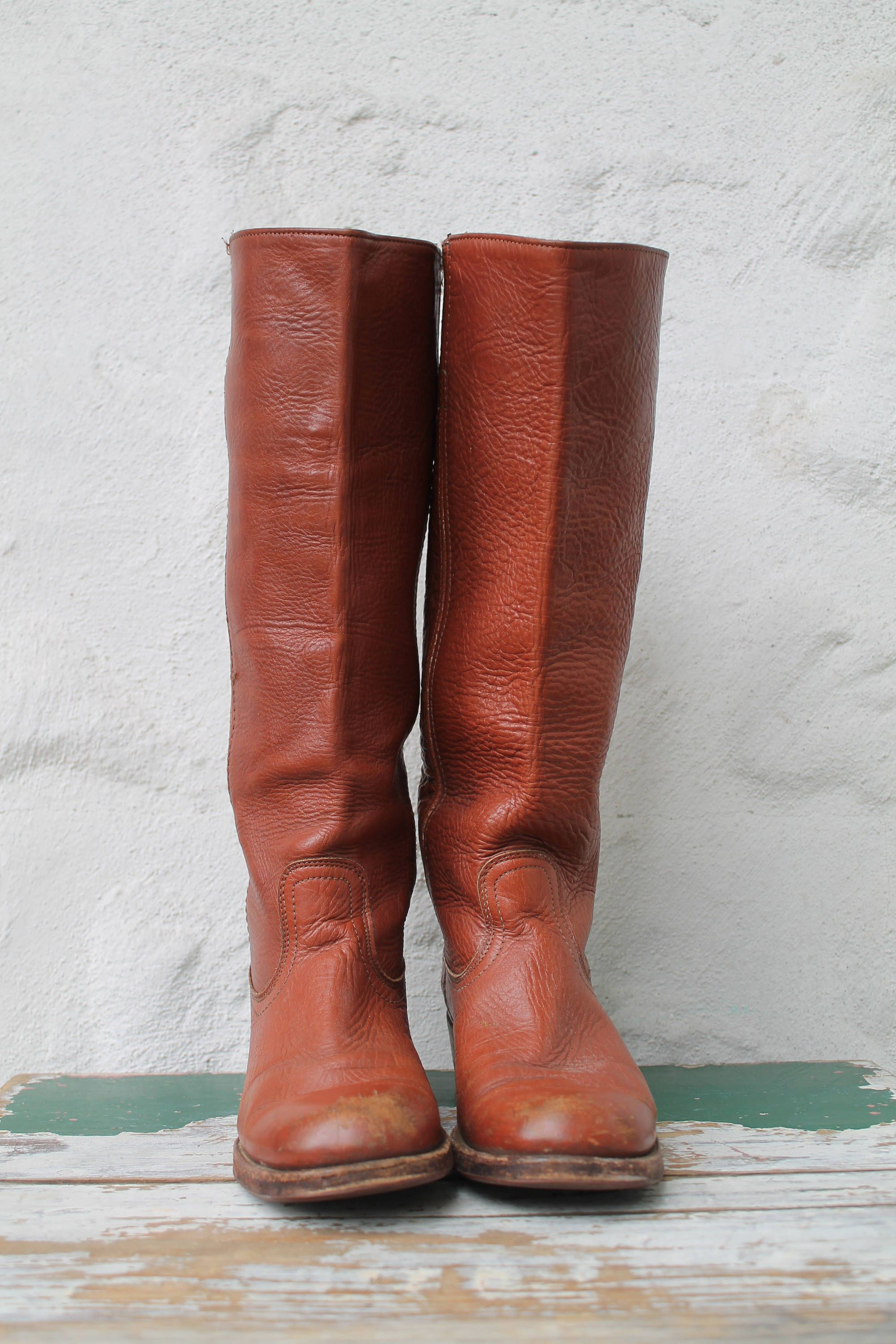 76d101680914 Frye Boots Tall Leather Boots Campus Boots Womens 6.5 Campus Boots Vintage Frye  Boots