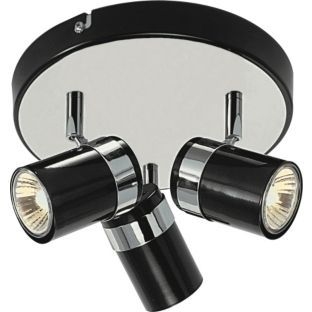 Buy Living Shiro 3 Light Spotlight Plate Black & Chrome Effect at Argos.co.uk - Your Online Shop for Ceiling and wall lights. I now have these.