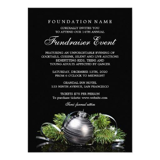 Holiday Fundraiser Invitation Fundraising Event Event flyer - fundraiser invitation templates