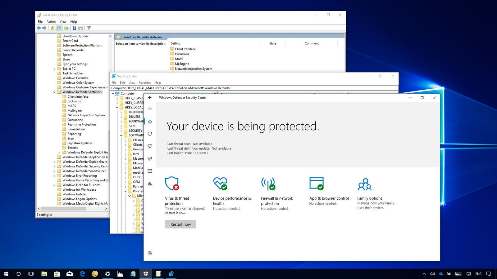 How To Disable Windows Defender In Windows 10 8 And 7 Windows Defender Windows 10 Keyboard Language