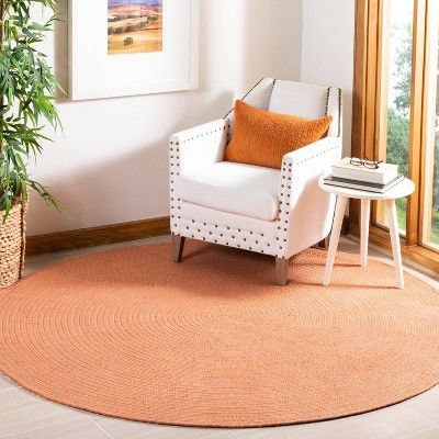 Solid Woven Round Area Rug 6 Safavieh Adult Unisex Size 6