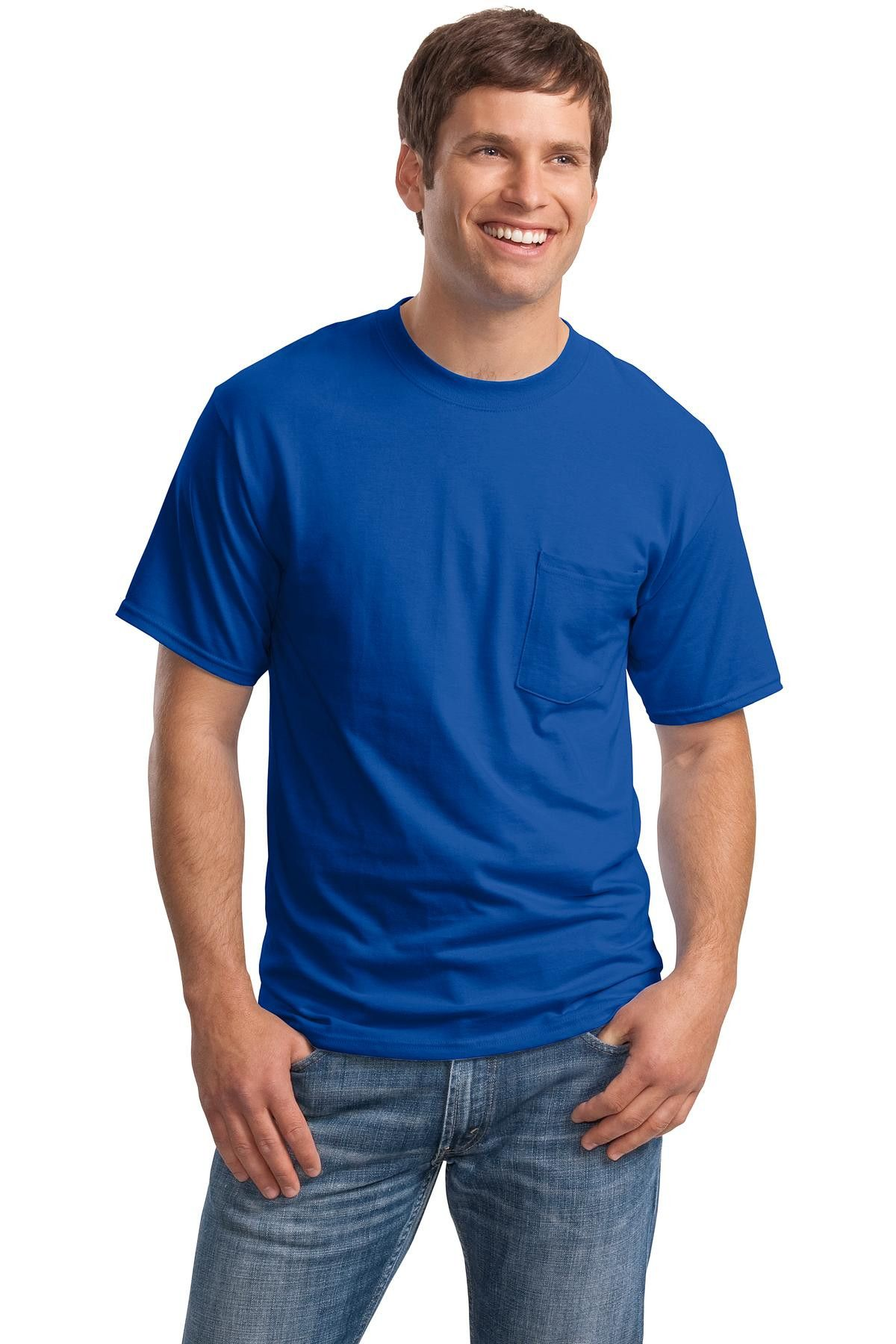 Hanes Adult Beefy-T® T-Shirt with Deep Royal