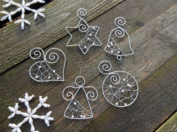 Image result for diy wire ornaments (With images) | Wire ...