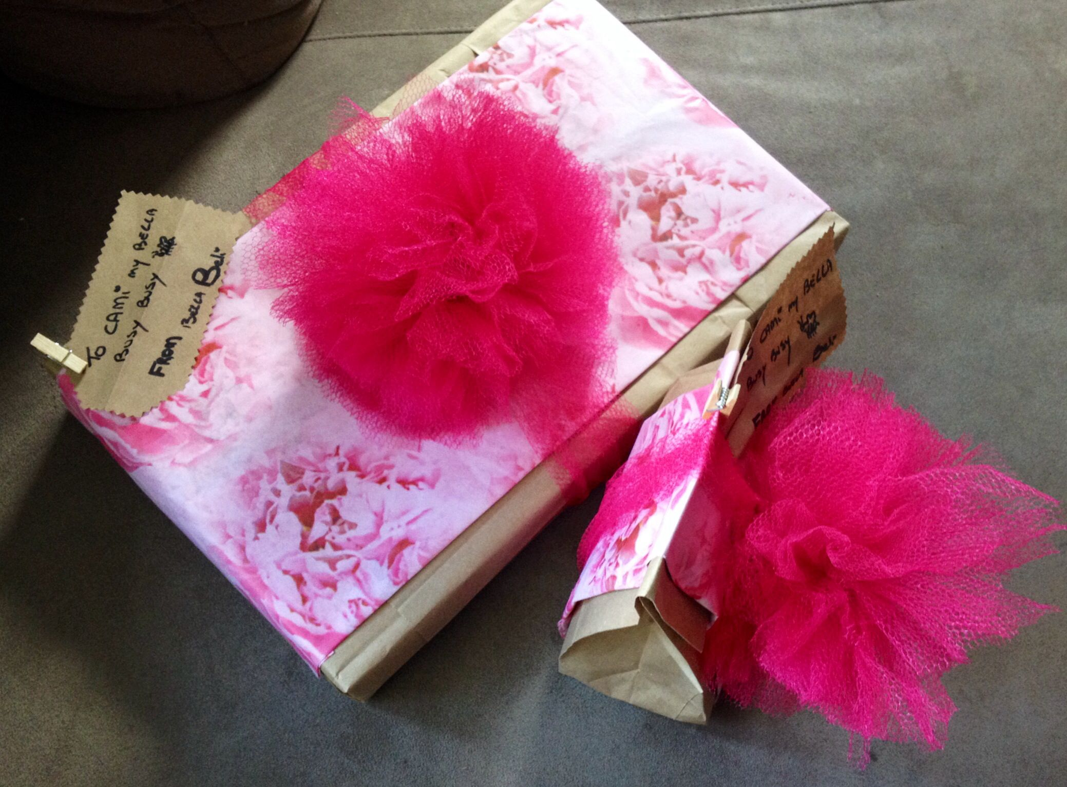 Brown paper bags tissue paper tulle and voila