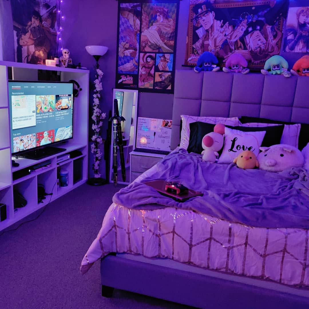 Pin by Felicia Paredes on Otaku (With images) | Neon room ... on Room Decor Paredes Aesthetic id=48861