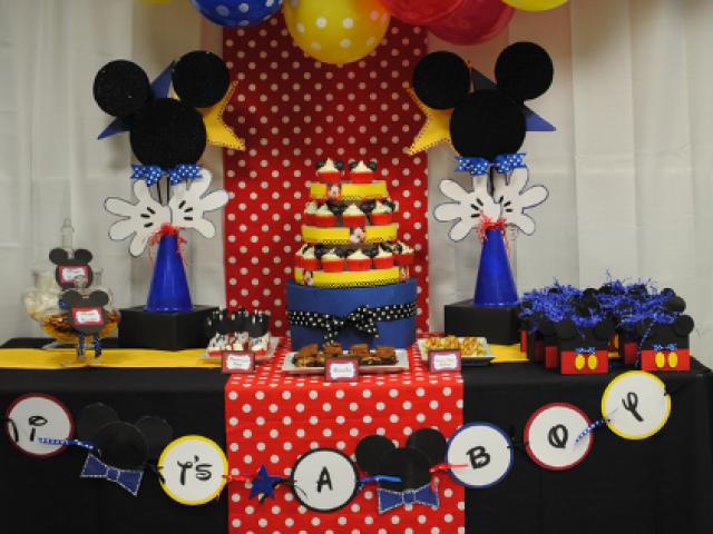 Disney Mickey Baby Shower Themes - Baby Shower Decoration Ideas -9808