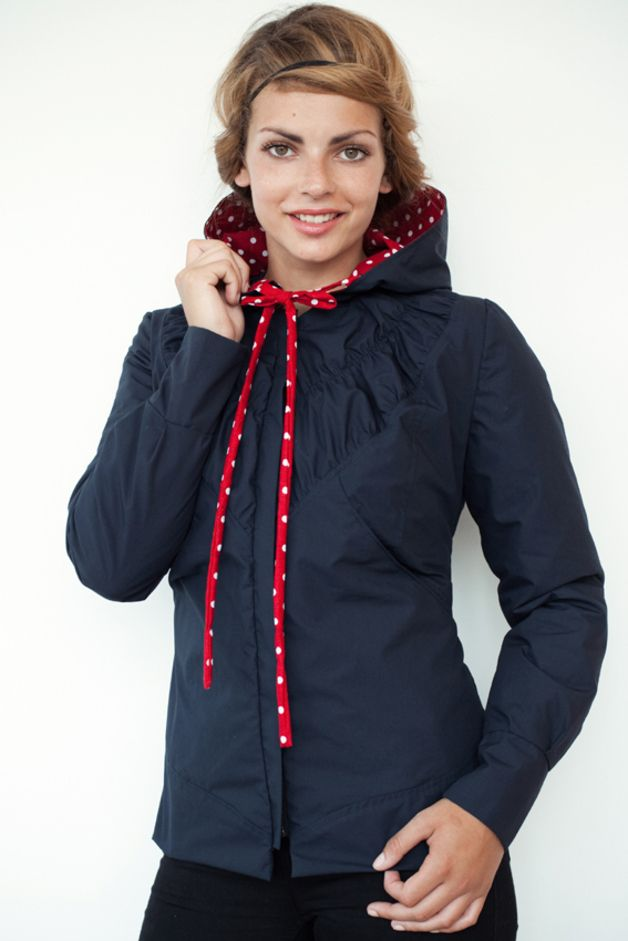 Hooded Jacket - Blue - Stippen