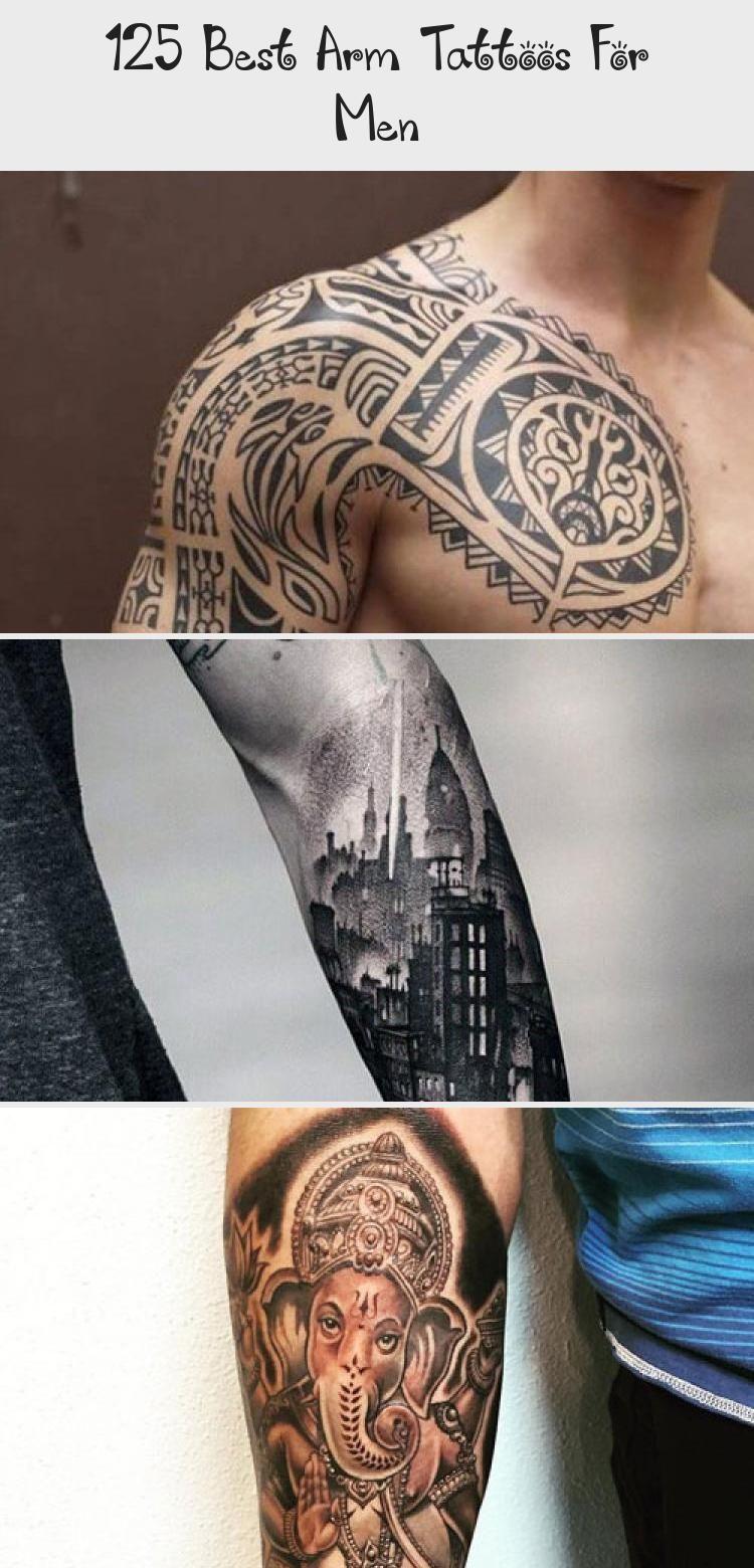Clock Rose Front Arm Tattoo Designs For Men Best Arm