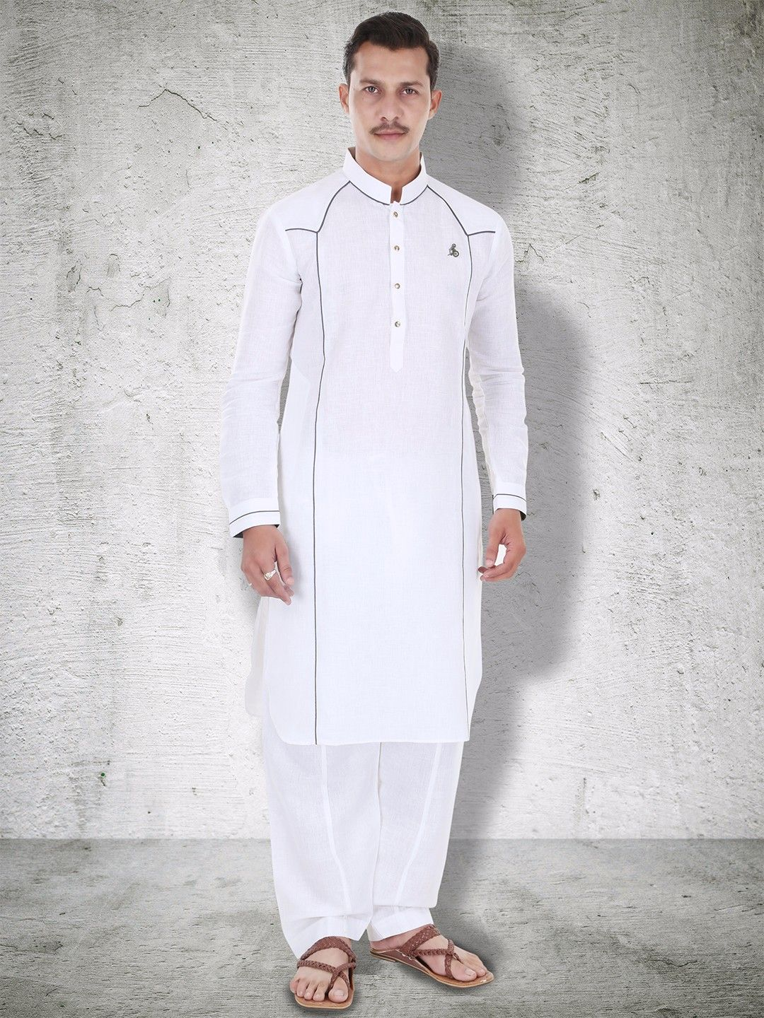 White Pathani Suit