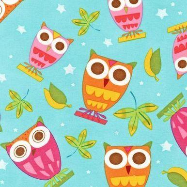 Robert Kaufman cotton fabric featuring owls | sewscrumptious