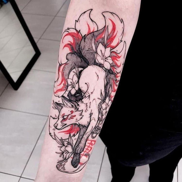 Nine-tailed fox | Japanese Tattoo Designs
