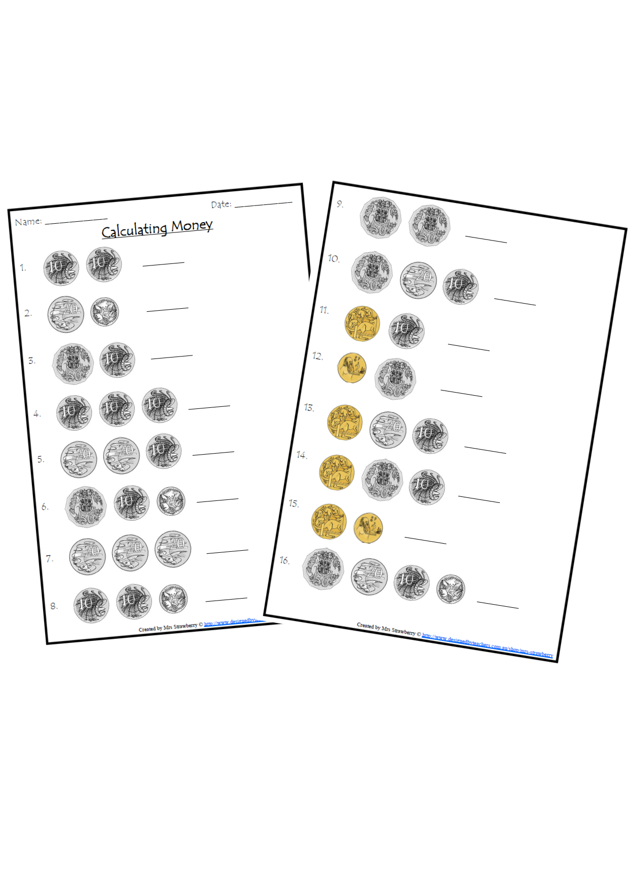 Calculating Money With Images