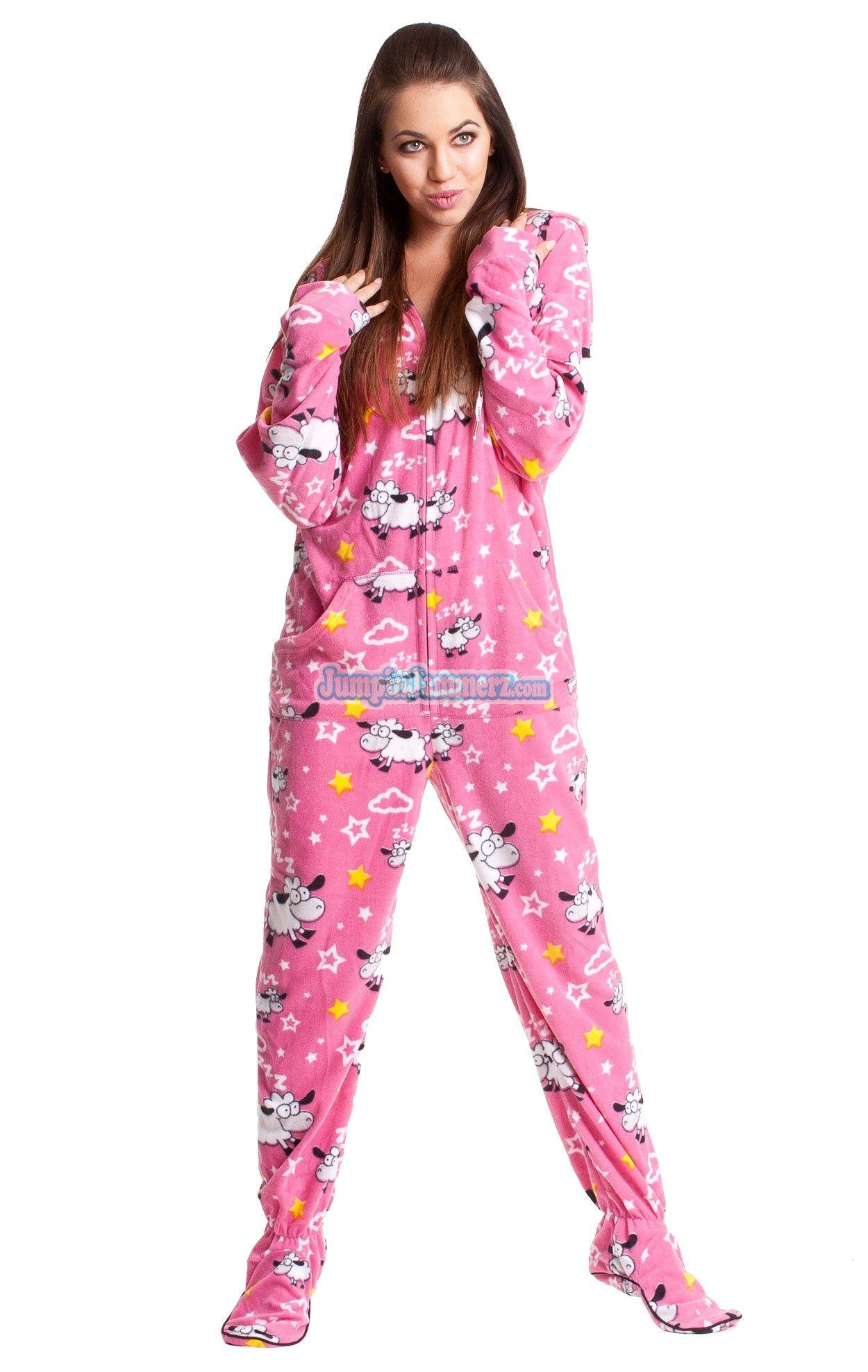 Adult Onesie Footed Pajamas