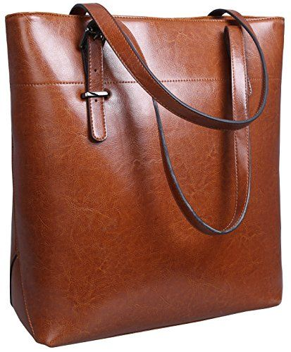 7aa49f52723e SALE PRICE -  59.97 - Iswee Leather Shoulder Bag Work Tote Handbag Top  Handle Satchel Macbook Bags for Women for Ladies