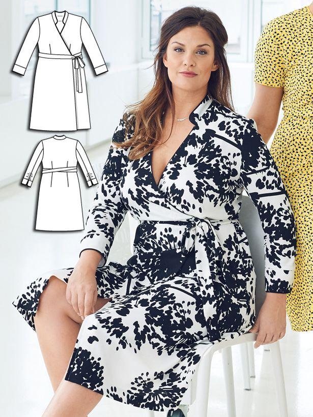 Plus Size Wrap Dress Pattern : dress, pattern, Closet, Swap:, Women's, Sewing, Patterns, Dresses, Women,, Pattern, Dress