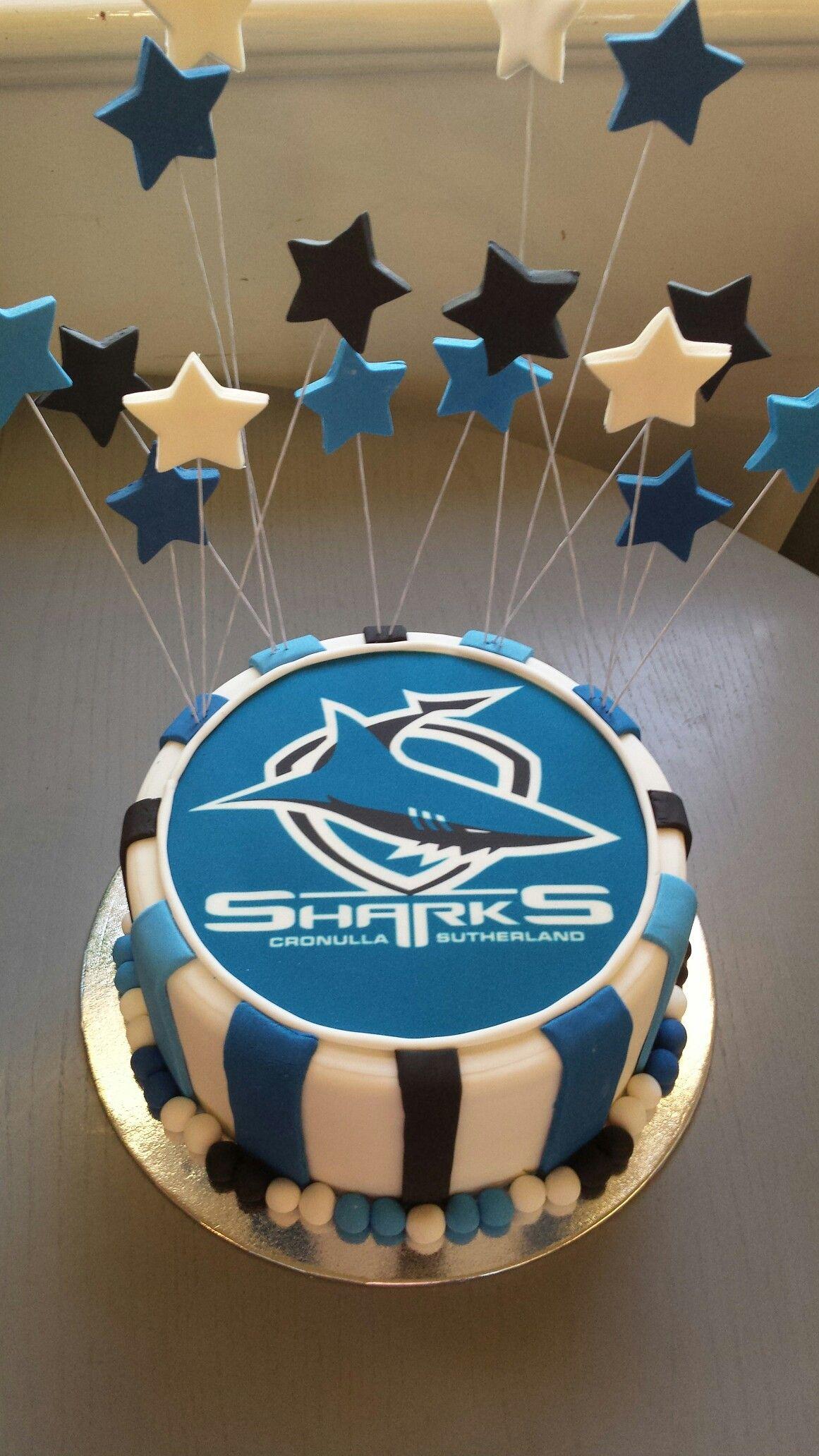 Cronulla sharks cakes shark cake themed cakes football