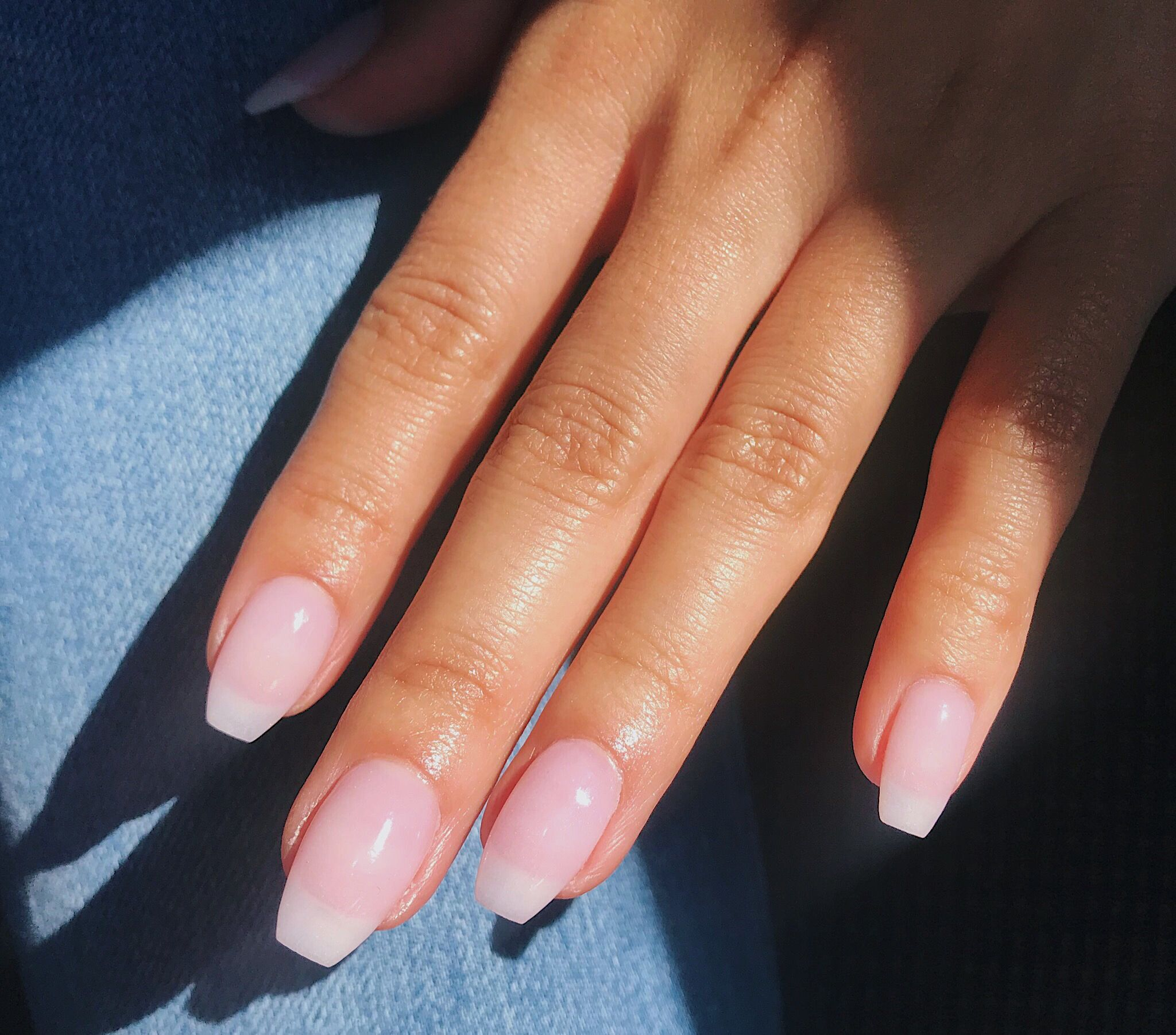 @vnezlee clear natural dip powder nails | Powder nails ...