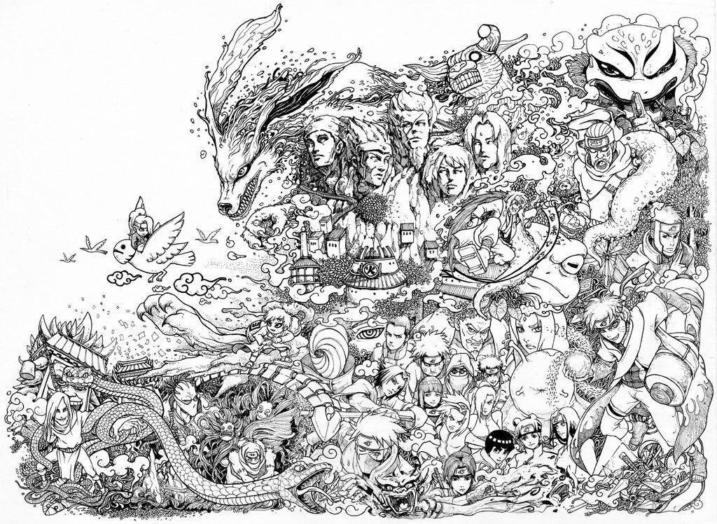 Naruto Doodle High Reso by leemarej on DeviantArt Seni