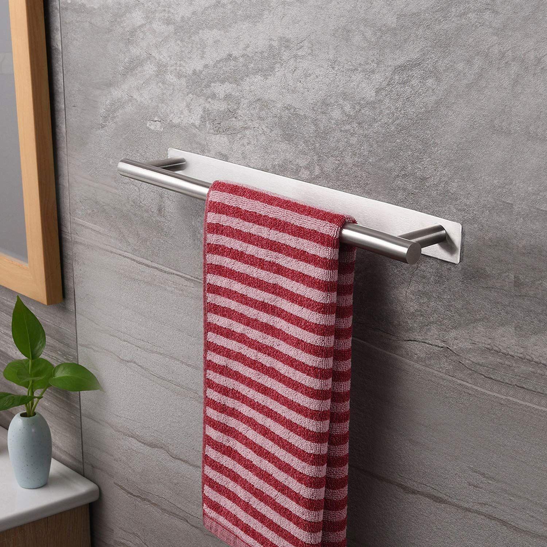 Zunto Handtuchhalter 40 Cm Bad Handtuchstange Ohne Bohren Badetuchhalter Edelstahl Selbstklebend Handtuchregal Am Handtuchstange Badetuchhalter Handtuchhalter