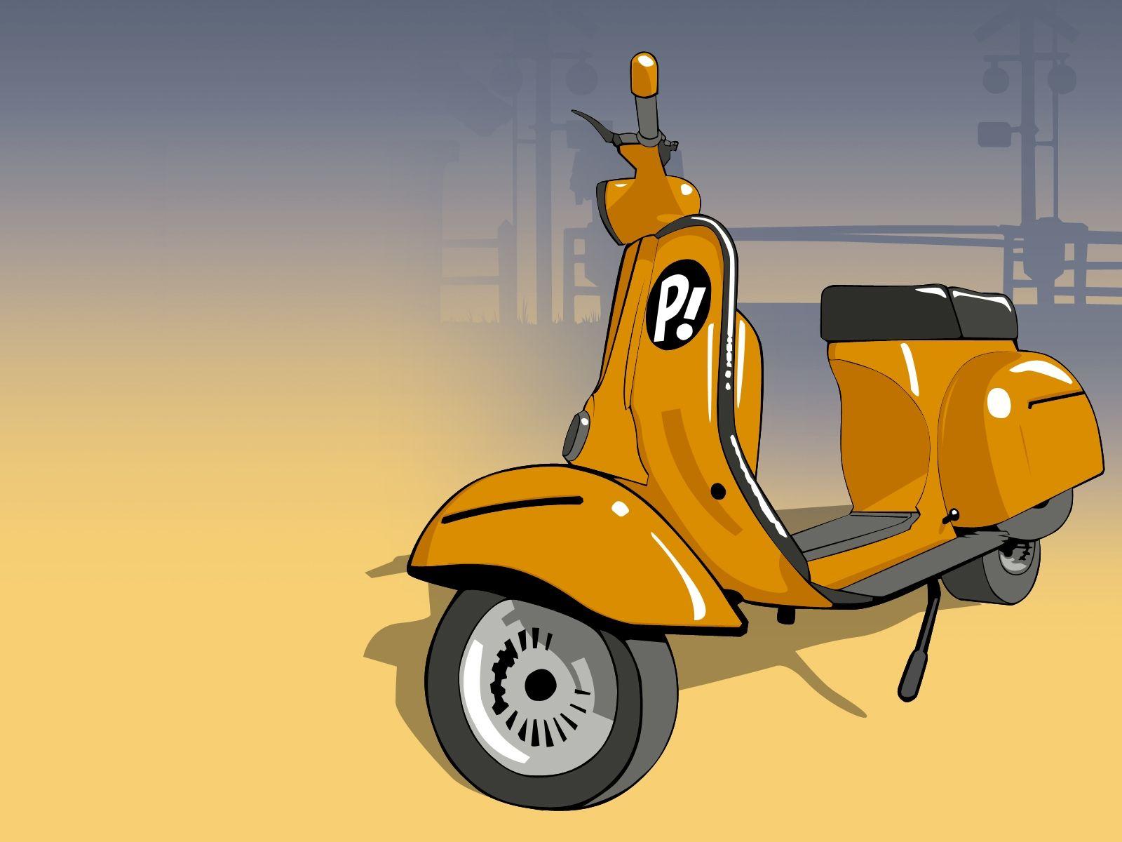 Skeleton Riding A Scooter Dengan Gambar Ilustrasi Karakter