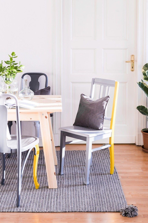 Upcycling Mobel Diy Mein Esszimmer Makeover Schereleimpapier Diy Diy Mobel Streichen Upcycling Mobel Alte Stuhle Streichen