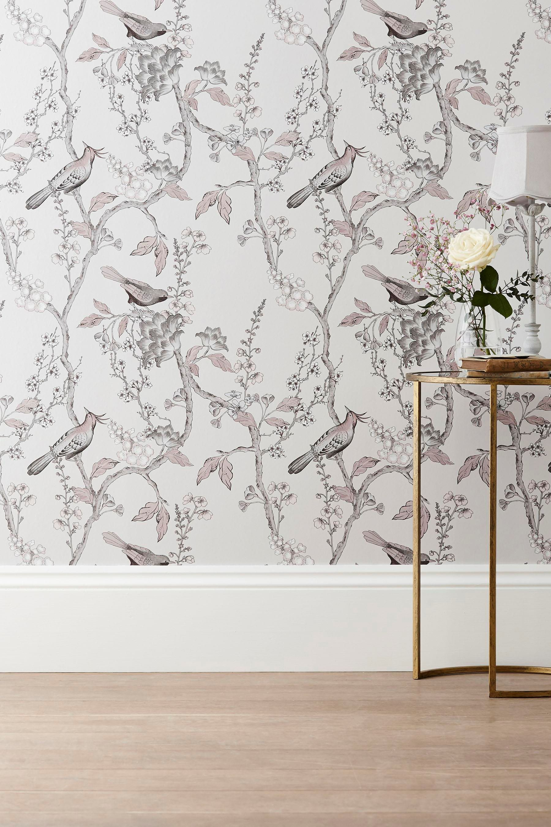 Buy Paste The Wall Natural Birds Wallpaper from the Next