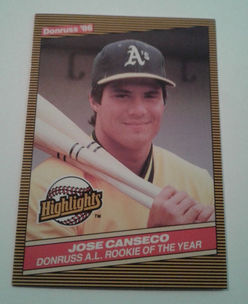1986 Donruss Highlights Jose Canseco Rookie Card 55
