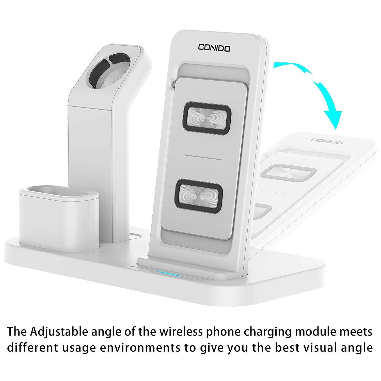 :Conido 3 合 1 充電支架 適用於 Apple Watch 和