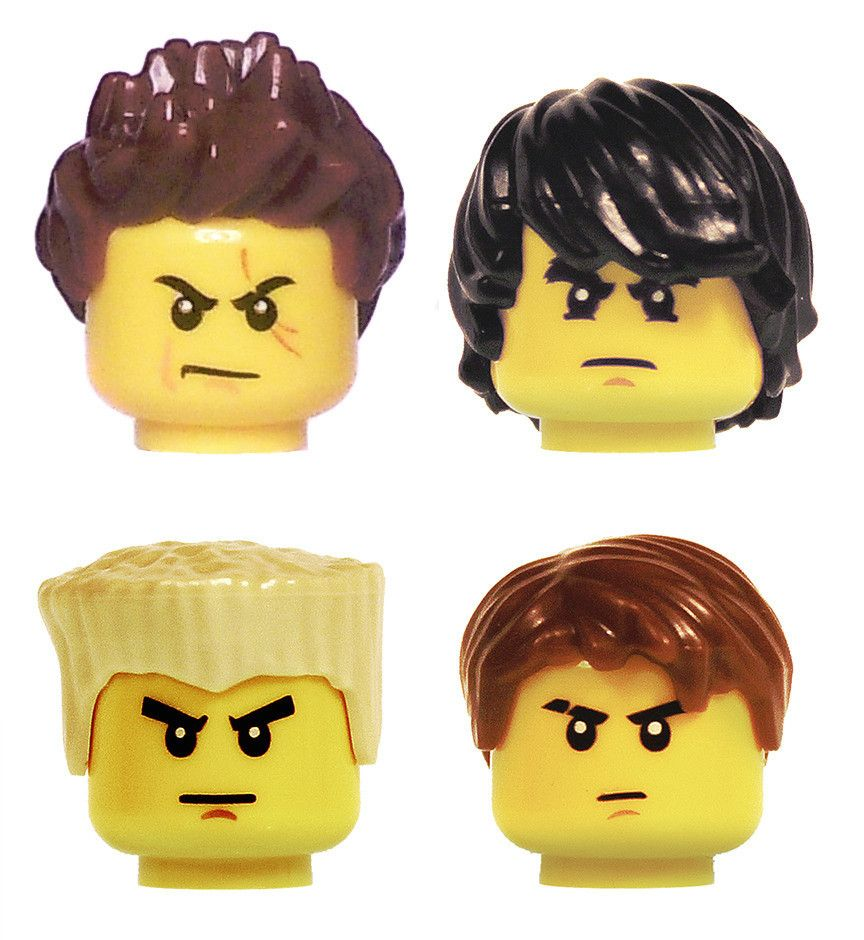 Lego Cole Head Hair piece for Ninjago Minifigures NEW